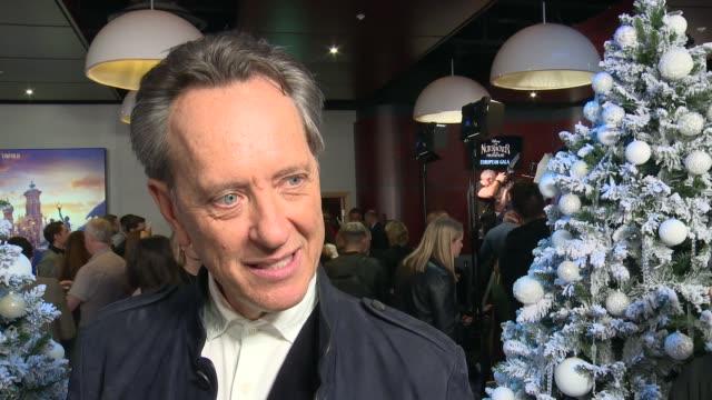vídeos de stock e filmes b-roll de 'the nutcracker and the four realms' premiere; england: london: richard e. grant interview sot - richard e. grant