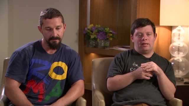 'the peanut butter falcon' actor shia labeouf credits co-star with down's syndrome with saving his life; england: int shia labeouf and zack gottsagen... - shia labeouf stock videos & royalty-free footage
