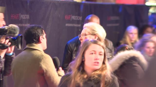 'The Post' premiere Red carpet interviews ENGLAND London Steven Spielberg / Meryl Streep