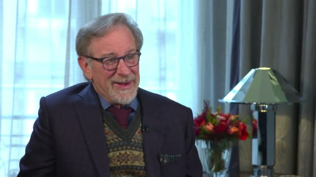 'The Post' Steven Spielberg interview ENGLAND London INT Steven Spielberg interview SOT