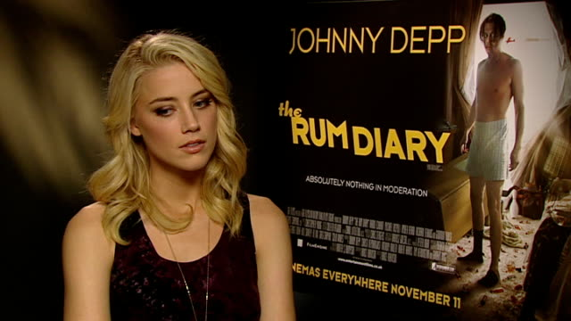 'The Rum Diary' Johnny Depp and Amber Heard interviews Amber Heard interview SOT On the film being a dream job / on London as long as she has an...