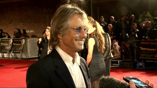 'the rum diary' premiere: red carpet arrivals; bruce robinson speaking to press bruce robinson interview sot - on being nervous about seeing the film... - amber stock videos & royalty-free footage