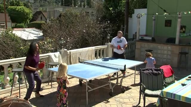 'the silent child' wins best short film at the academy awards los angeles ext maisie sly with table tennis bat high angle view maisie sly playing... - table tennis bat stock videos & royalty-free footage