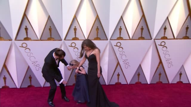 'the silent child' wins best short film at the academy awards usa california los angeles hollywood dolby theatre ext rachel shenton and chris overton... - 90th annual academy awards stock videos & royalty-free footage