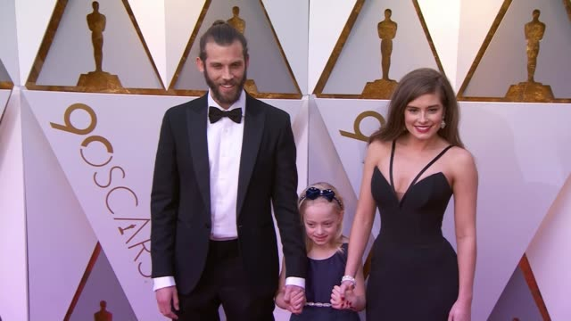 'The Silent Child' wins best short film at the Academy Awards Hollywood Dolby Theatre Chris Overton and Rachel Shenton with Maisie Sly on red carpet...