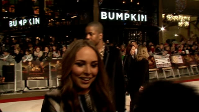 'The Twilight Saga Breaking Dawn Part 1' premiere in London Red carpet interviews Dickson saying Get in as away SOT Chloe Green interview SOT On...