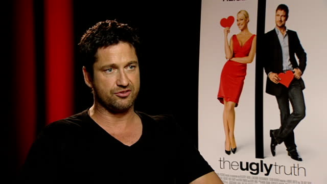 'The Ugly Truth' Katherine Heigl and Gerard Butler interviews Butler interview SOT On acting in different film genres and not being typecast