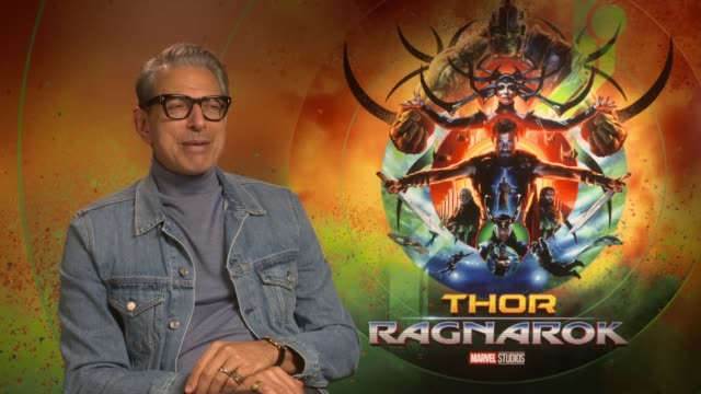 'Thor Ragnarok' junket interviews with Jeff Goldblum and Taika Waititi ENGLAND London INT Jeff Goldblum interview SOT / Taika Waittiti interview SOT