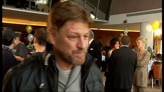 thriller 'cleanskin' filmed in london: sean bean interview; - talks of the problems of filming around london / talks of being able to take a break... - sean bean stock videos & royalty-free footage