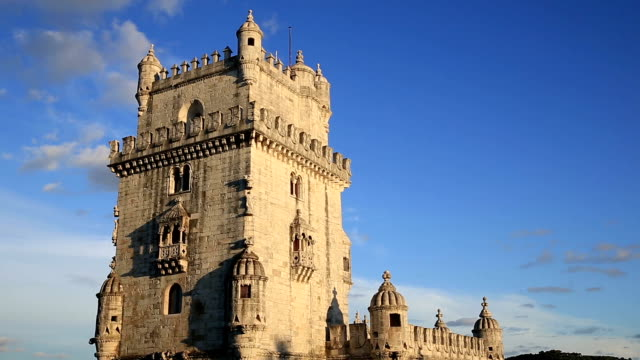 HD Film Tilt: Belem Tower at Lisbon Portugal