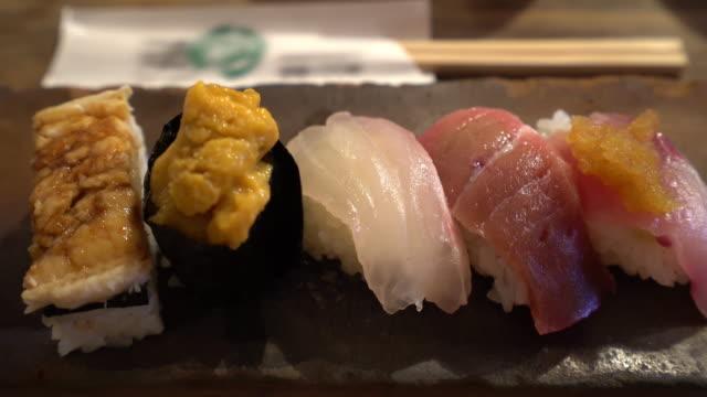 寿司のフィルム傾き