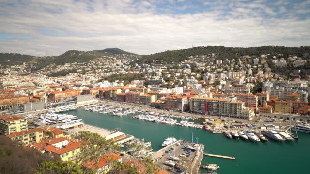 film tilt shot Nice Marina Port French Riviera France