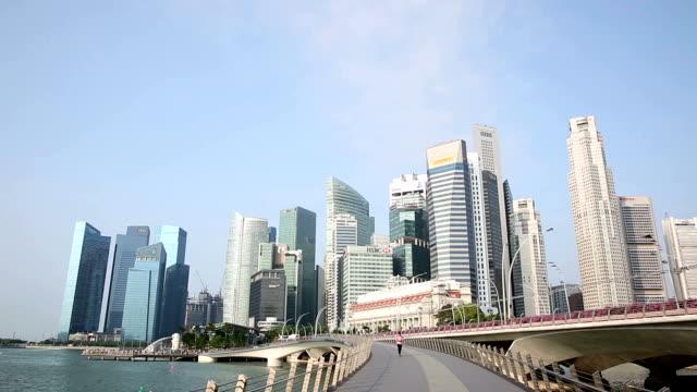 Film-Tilt: Singapur Stadtbild Morgen