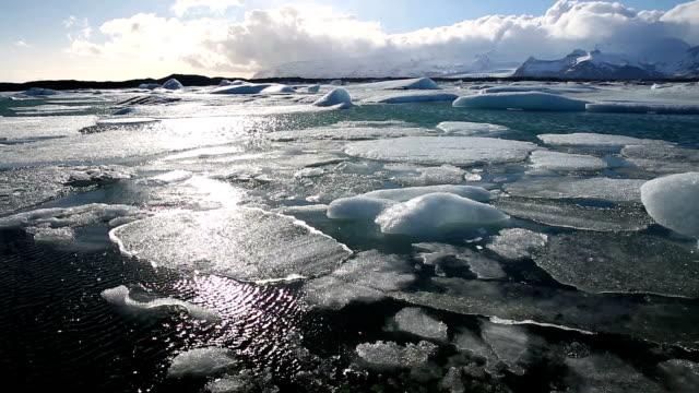 HD Film Tilt: Vatnajokull Glacier Jokulsarlon lagoon Iceland