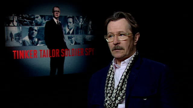 'tinker tailor soldier spy' gary oldman interview england london int gary oldman interview sot i was familiar with the book and i remember the series... - pot belly stock videos & royalty-free footage