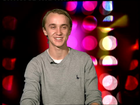 tom felton interview england london int tom felton interview sot on initially turning down 'celebrity junkie' he did glider flying shark diving... - soap opera stock videos & royalty-free footage