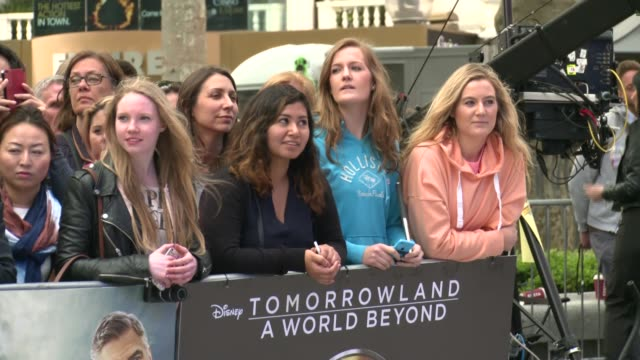 Tomorrowland A World Beyond European film premiere ENGLAND London PHOTOGRAPHY*** Fans and posters along red carpet at 'Tomorrowland A World Beyond'...