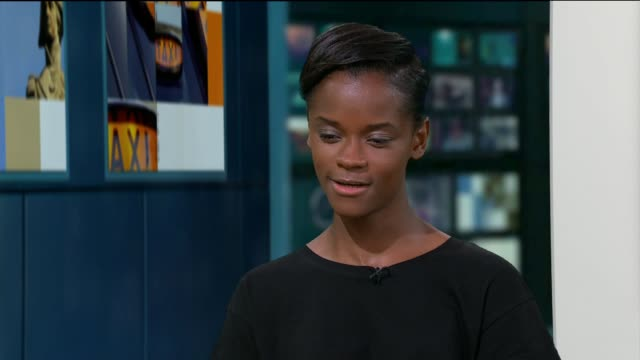 'urban hymn' letitia wright interview letitia wright live studio interview sot - letitia wright stock videos and b-roll footage