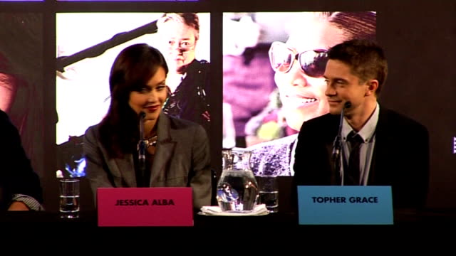 'valentine's day' director and cast press confernece garry marshall press conference sot on how topher grace got the part says anne hathaway said she... - topher grace stock videos and b-roll footage