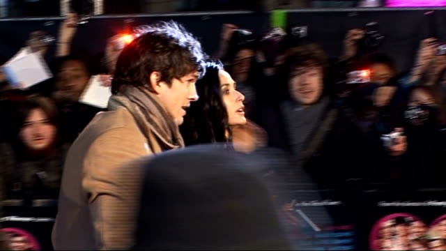 'valentine's day' premiere red carpet arrivals england london leicester square photography** **music heard sot** heartshaped sign reading... - ashton kutcher stock videos and b-roll footage