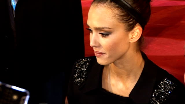 'Valentine's Day' premiere red carpet arrivals Jessica Alba speaking to press / Jessica Alba interview SOT On Valentine's Day / McDreamy and McSteamy...