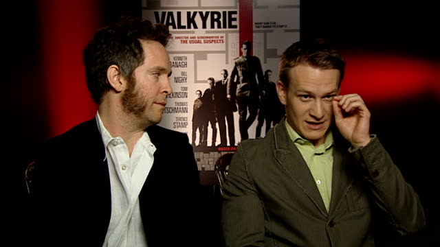 film 'valkyrie' interviews jamie parker and tom hollander interview sot on working with tom cruise on working with the cast like a school trip no... - tom cruise bildbanksvideor och videomaterial från bakom kulisserna
