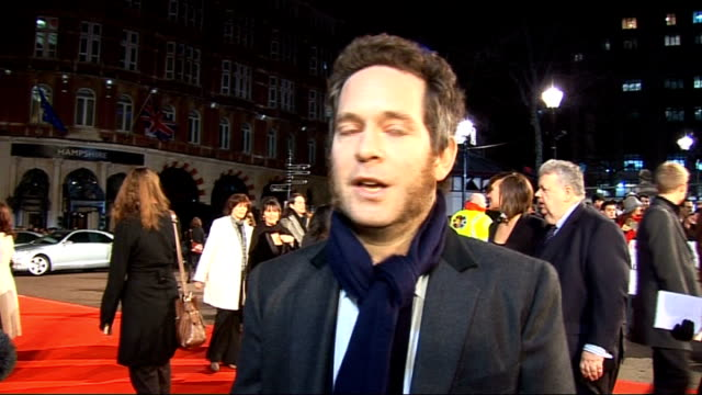'valkyrie' premiere red carpet arrivals tom hollander interview sot enjoying premiere divided though because another of his films is doing very well... - in the loop 2009 film stock videos and b-roll footage