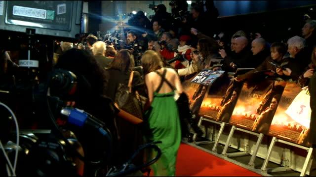 'War Horse' premiere red carpet arrivals ENGLAND London Leicester Square PHOTOGRAPHY** Horse led along red carpet / 'War Horse' film poster / Jeremy...