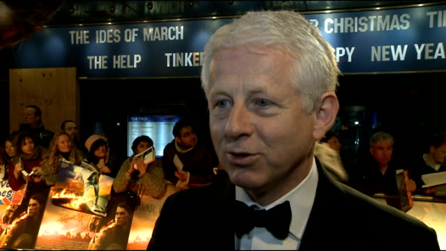 vídeos y material grabado en eventos de stock de 'war horse' premiere red carpet arrivals richard curtis interview sot on his role in writing the script being complicated but was easier as he had... - michael morpurgo