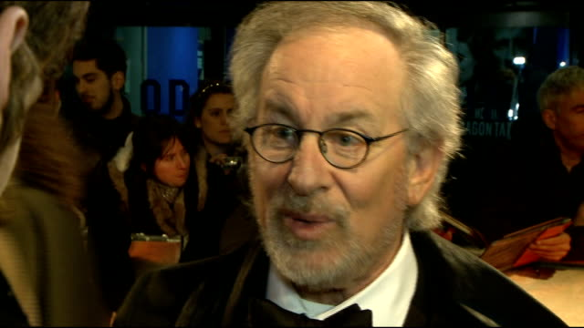 'War Horse' premiere red carpet arrivals Steven Spielberg interview SOT On not ranking his own movies but War Horse being a beautiful experience to...