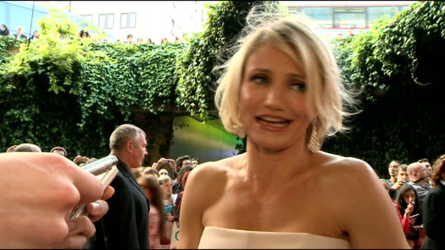 'What To Expect When You're Expecting' premiere Cameron Diaz talking to press on red carpet and interview SOT Cheryl Cole signing autographs/ Cheryl...