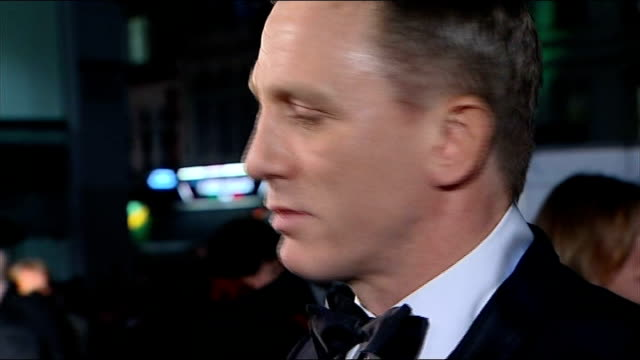 who is the best james bond ever?; london: leicester square: **beware flash photography** daniel craig meeting prince william at quantum of solace... - james bond fictional character stock videos & royalty-free footage