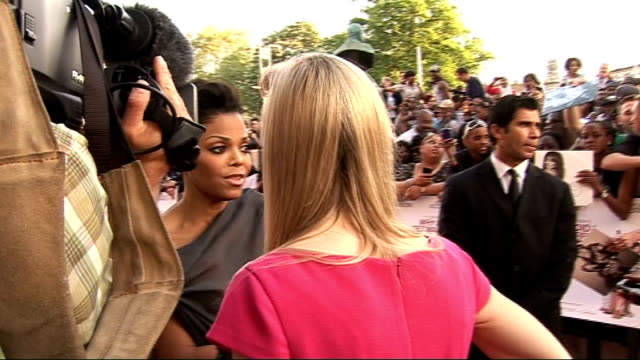 'why did i get married too' premiere in london arrivals janet jackson arriving and fans screaming sot / general views of close ups of jackson... - janet jackson stock videos & royalty-free footage
