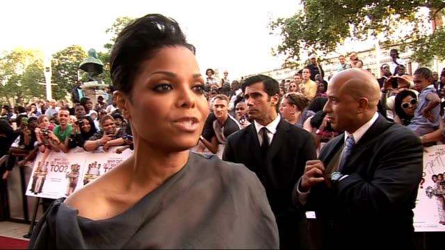 'Why Did I Get Married Too' premiere in London arrivals Janet Jackson interview SOT On being in London / why she chose to do the film / starring in...