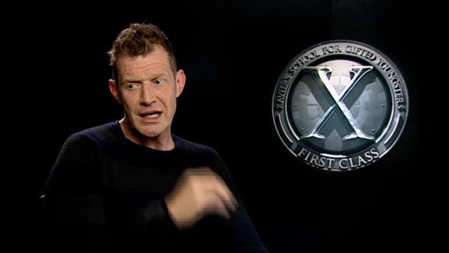 'XMen First Class' junket interviews Michael Fassbender and Jason Flemyng Jason Flemyng interview SOT On his character 'Azazel' / On pronunciation of...