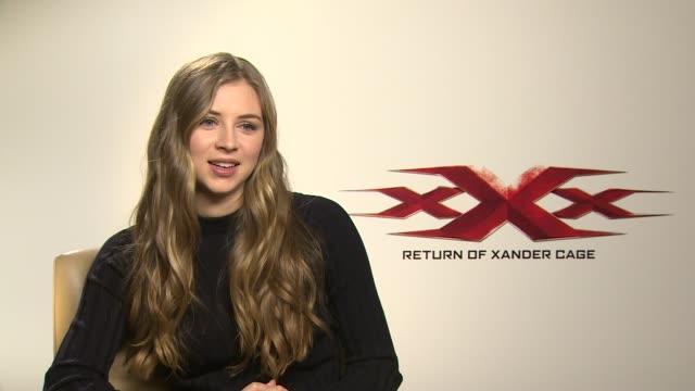 'XXX Return of Xander Cage' Junket interviews Film 'XXX Return of Xander Cage' Junket interviews Hermione Corfield interview SOT
