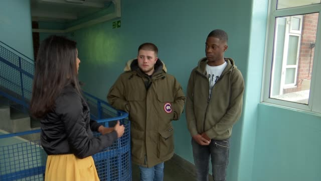 Young people make film drama about realities of youth violence and London's knife crime epidemic ENGLAND London INT Daniel Phelan and Isaac Baah...