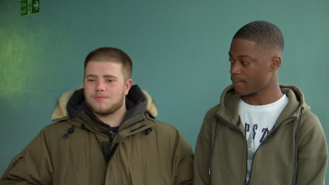 Young people make film drama about realities of youth violence and London's knife crime epidemic ENGLAND London INT Daniel Phelan interview alongside...