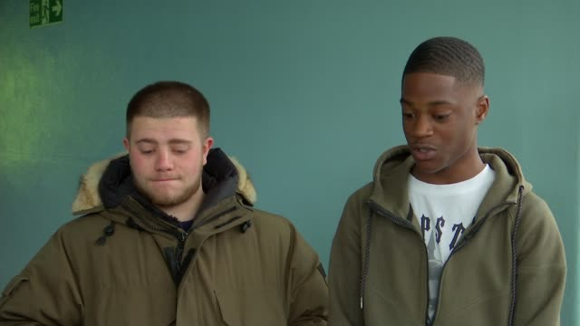 Young people make film drama about realities of youth violence and London's knife crime epidemic ENGLAND London INT Isaac Baah interview alongside...