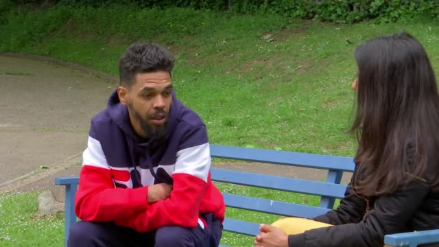 Young people make film drama about realities of youth violence and London's knife crime epidemic ENGLAND London EXT James Vancooten interview SOT