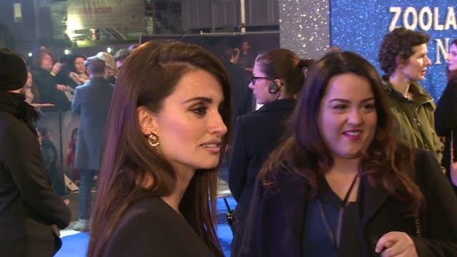 Zoolander 2 premiere Red carpet arrivals and interviews Penelope Cruz talking to press on red carpet SOT / Ben Stiller posing on blue carpet with...