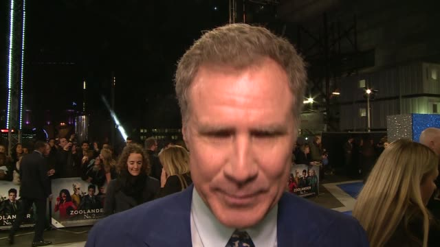 vídeos de stock, filmes e b-roll de zoolander 2 premiere red carpet arrivals and interviews will ferrell interview sot on expectations on sequel read script and had no hesitation / on... - kristen wiig