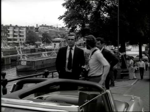 filming james bond film 'diamonds are forever' / amsterdam, noord-holland, netherlands - james bond fictional character stock videos & royalty-free footage
