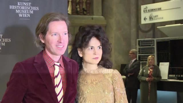 filmmaker wes anderson and his partner designer and illustrator juman malouf open the exhibition they have jointly curated at vienna's museum of fine... - illustrator stock videos & royalty-free footage