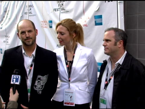 filmmakers colin gray and megan raney and editor michael rogers at the 2006 tribeca film festival 'full grown men' and 'freedom's fury' at amc loews... - amc loews stock videos and b-roll footage