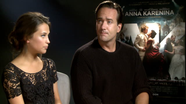 'Anna Karenina' cast interviews Alicia Vikander and Matthew Macfadyen interview SOT Summing up story Difficulty of pronouncing names On how they...
