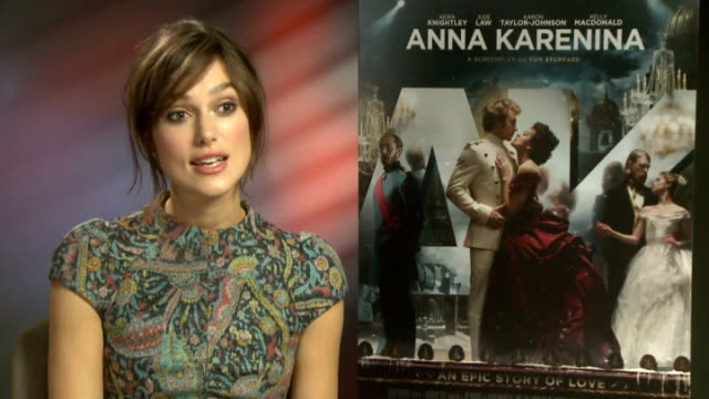 'anna karenina' cast interviews jude law interview sot best moment in film keira knightley interview sot on the storyline on what ways she could... - head banging stock videos & royalty-free footage