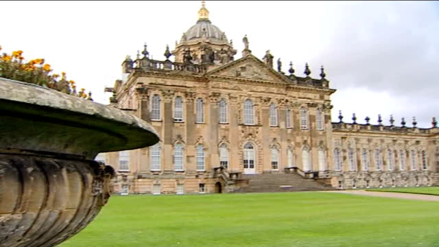 brideshead revisited premiere good shot general view of castle howard building emma thompson interview sot on remakes - emma thompson stock videos and b-roll footage