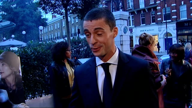 brideshead revisited premiere red carpet arrivals matthew goode arrival with girlfriend sophie dymoke and interview sot - matthew goode stock videos & royalty-free footage