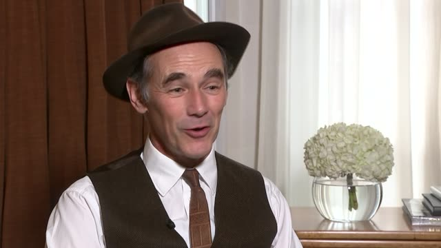 bridge of spies mark rylance interview england london mark rylance interview sot talks of backing out of a previous spielberg film and then not... - mark rylance stock-videos und b-roll-filmmaterial